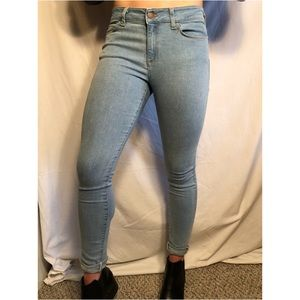 Light Wash American Apparel Skinny Jeans